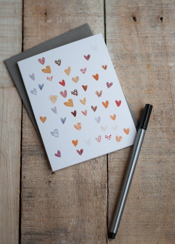 SALE - I Am Hearts for You Blank Card