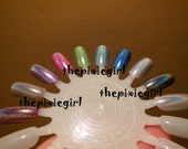 SPECTRAFLAIR Linear HOLOGRAPHIC Top Coat Nail Polish Lacquer in Base 2 sizes Available Indie Brand