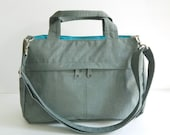 Sale - Water-Resistant Bag in Grey- messenger bag, tote, purse, everyday bag, handbag - ANNIE