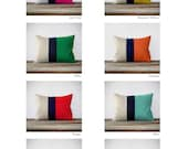 CUSTOM Color Block Pillow Covers - Original 12x16 Design by JillianReneDecor - Modern Home Decor - Hot Pink - Mustard Yellow - Emerald Green