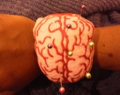 Brain and heart wrist pincusion in the hoop ITH 4x4 and up!