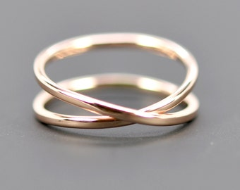 14K Rose Gold Infinity Ring, Eternity Band, Unique Wedding Band, sizes 6.25-9 this listing, Sea Babe Jewelry