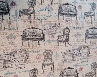 Vintage furniture ads Fabric BTY