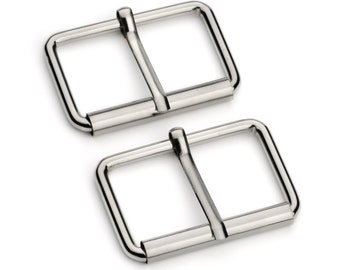 "10pcs - 1 1/2"" Roller Pin Belt Buckles - Nickel - Free Shipping (ROLLER BUCKLE RBK-120)"