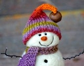 Snowman - Needle Felted wool Snowmen - 213 - BearCreekDesign