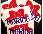 America Bow Decal