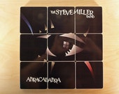 STEVE MILLER BAND recycled Abracadabra album cover coasters with record bowl