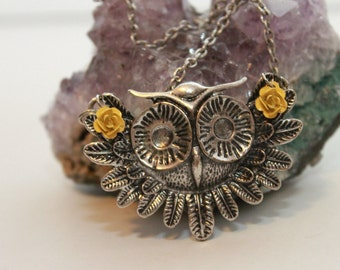 SALE-Fall Owl Necklace