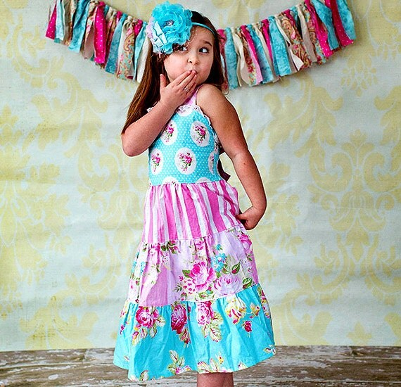 Boutique Dress - Girls Summer Dress - Knot Dress