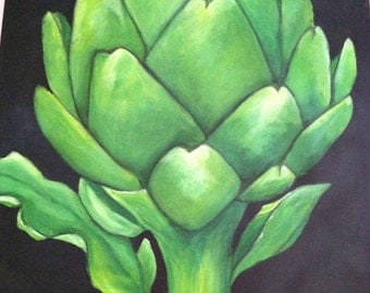 Artichoke floorcloth