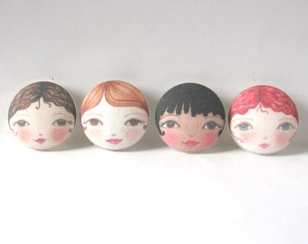 Large Sewing Buttons, Face Buttons, Sewing Notions, Covered Buttons uk, Shank buttons, Unusual Buttons, Cute Fabric Buttons,