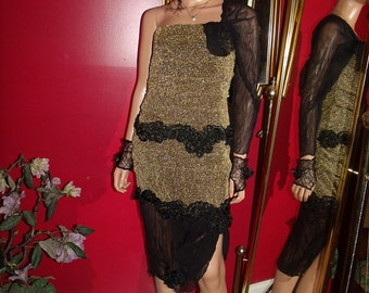 Handmade Vintage Reproduction  20s Theme   Flapper Dress  Exclusive  of Decoration