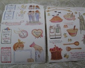 Homing Cooking & Girlfriends - Susan Branch designs Stickers 2 designs - 4 sheets