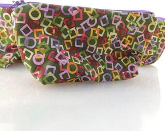 Geometrics Zippered Pouch
