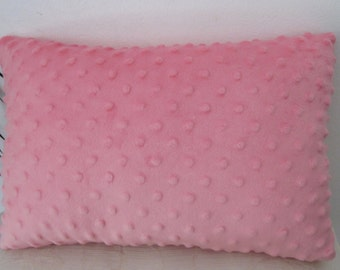 "Minky Travel Pillow - Minky DotsToddler Pillow 10""x14"" or 10""x16"" - Lumbar Minky Pillow"