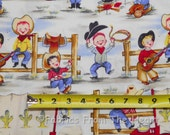 Lil Cowpokes Rodeo Kids Guitar Dog BY YARDS Michael Miller Cotton Fabric