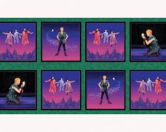Peter Pan Off To Neverland Darling Children 12 BLocks Per YARDS COTTON QT Fabric