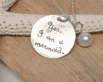 I Must Be a Mermaid - Sterling Silver Necklace
