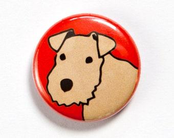 Lakeland Terrier Button Badge
