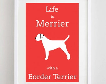 Border Terrier Picture - Border Terrier Print - Dog Picture - Dog Print - Dog Art