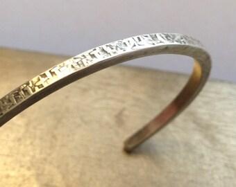 Silky Cuff/Sterling Silver Cuff Bracelet