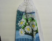 Daisy Bouquet Crochet Kitchen or Bathroom Towel