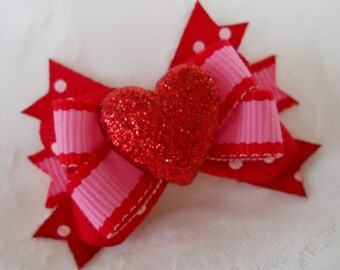 Dog Bow- Sparkle Heart Boutique Dog Bow