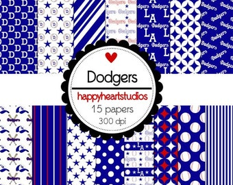 Digital Scrapbook Dodgers-INSTANT DOWNLOAD