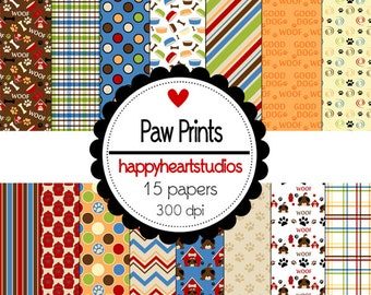 Digital Scrapbook PawPrints- INSTANT DOWNLOAD