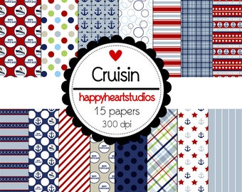 Digital Scrapbook Cruisin-INSTANT DOWNLOAD