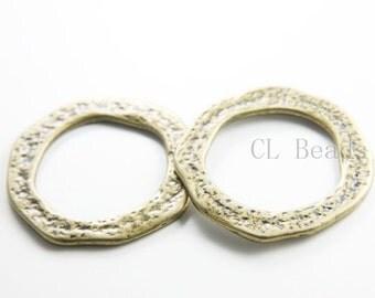 2pcs Antique Brass Tone Base Metal Rings- 41mm (15051Y-G-111B)