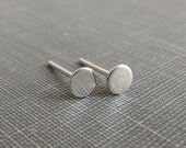 Sterling Silver Post Earrings - Flat Dot Studs - 4mm Small and Dainty - Simple Modern Minimal Earrings