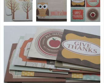 FOREVER FALL Chipboard Die Cuts: Journaling Cards / Titles / Quotes / Picture Cards