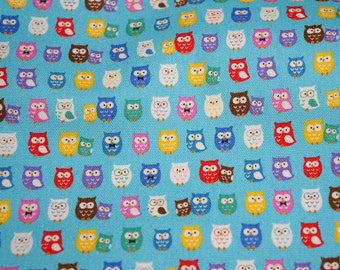 Tiny owl print half meter 50 cm by 106 cm or 19.6 by 42 inches nc41