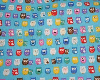 Tiny owl print fat quarter nc41