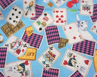 r Alice in Wonderland Fabric half meter nc14