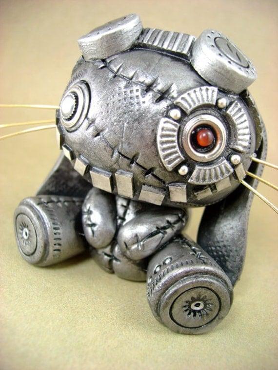Wyr - The Original Steambunneh - Industrial Steampunk Sculpture / Figurine