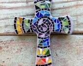 Mosaic Swirl Multi Colored Cross- Small