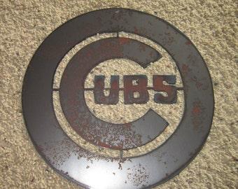 Chicago Cubs-Metal Art