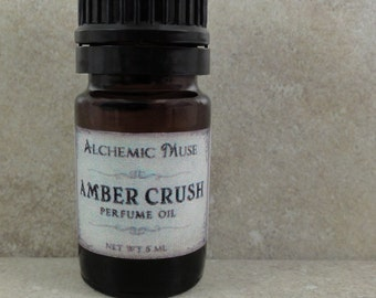 Amber Crush - Perfume Oil - Amber Resins, Patchouli, Bourbon Vanilla