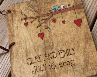 Custom Wedding Guest Book - 2 Little Love Birds