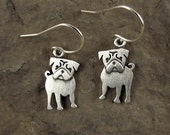 Pug earrings