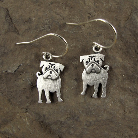npm pug pug earrings 3215