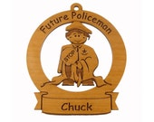 Future Policeman Ornament Personalized with Your Child's Name