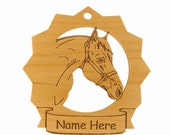 Quarter Horse Head Wood Ornament 088236 Personalized With Your Horse's Name