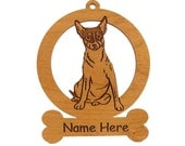 Rat Terrier Sitting Ornament 083803 Personalized With Your Dog's Name