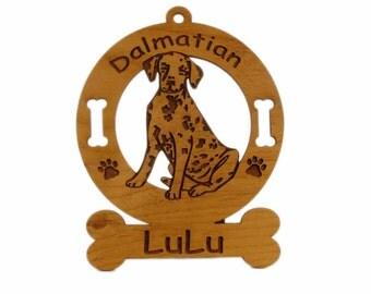 3045 Dalmatian Pup Personalized Dog Ornament