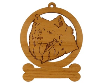 Samoyed (Head) Dog Ornament 083854 Personalized With Your Dog's Name