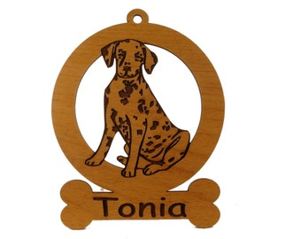 Dalmatian Puppy Ornament 083045 Personalized With Your Dog's Name