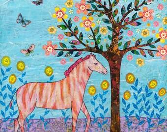 Animal Painting, Zebra Painting, Nursery Decor, Art Print, Animal Art, Child Decor